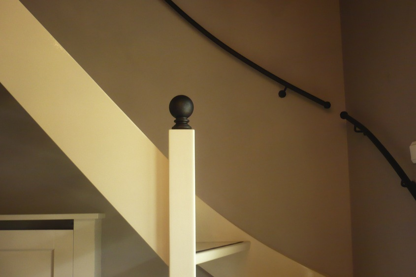 Een fraaie bal op de spil van de trap